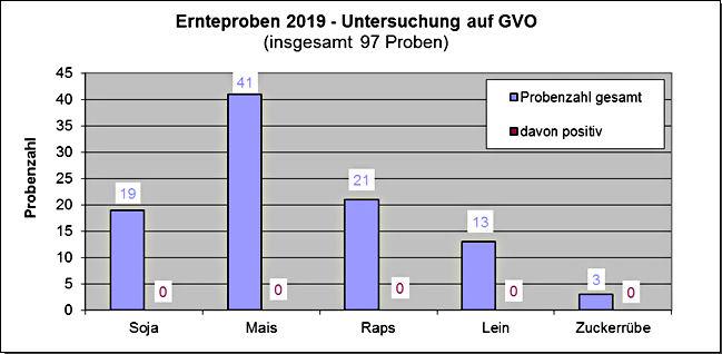 Ernetproben 2019 - Unteruchung auf GVO