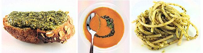 Collage: Verwendung von Pesto