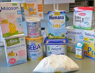 Produktspektrum Säuglingsanfangsnahrung