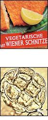 Veggie-Schnitzel und Honigpollen